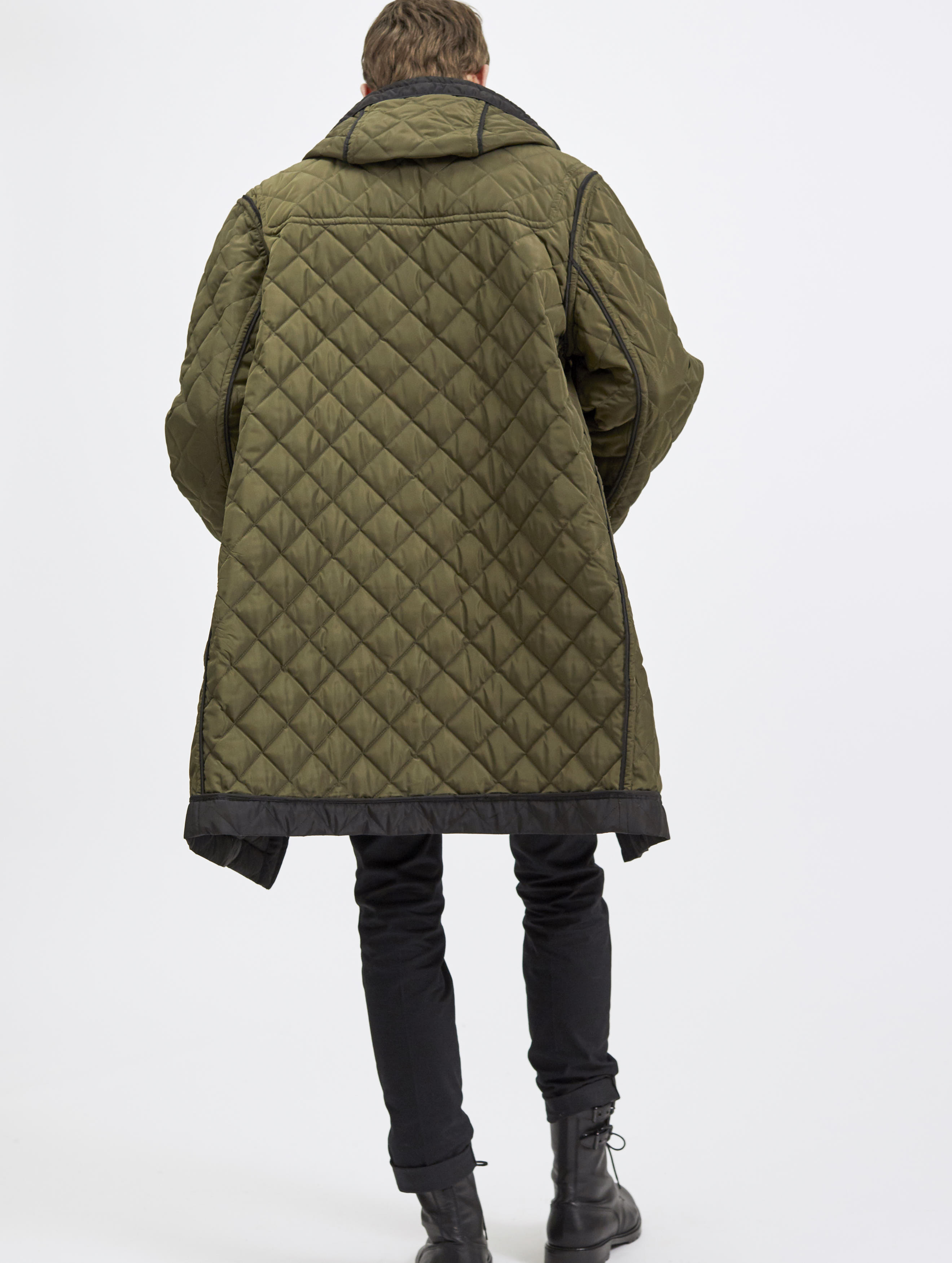 Quilted Oversized Reversible Duffle Coat