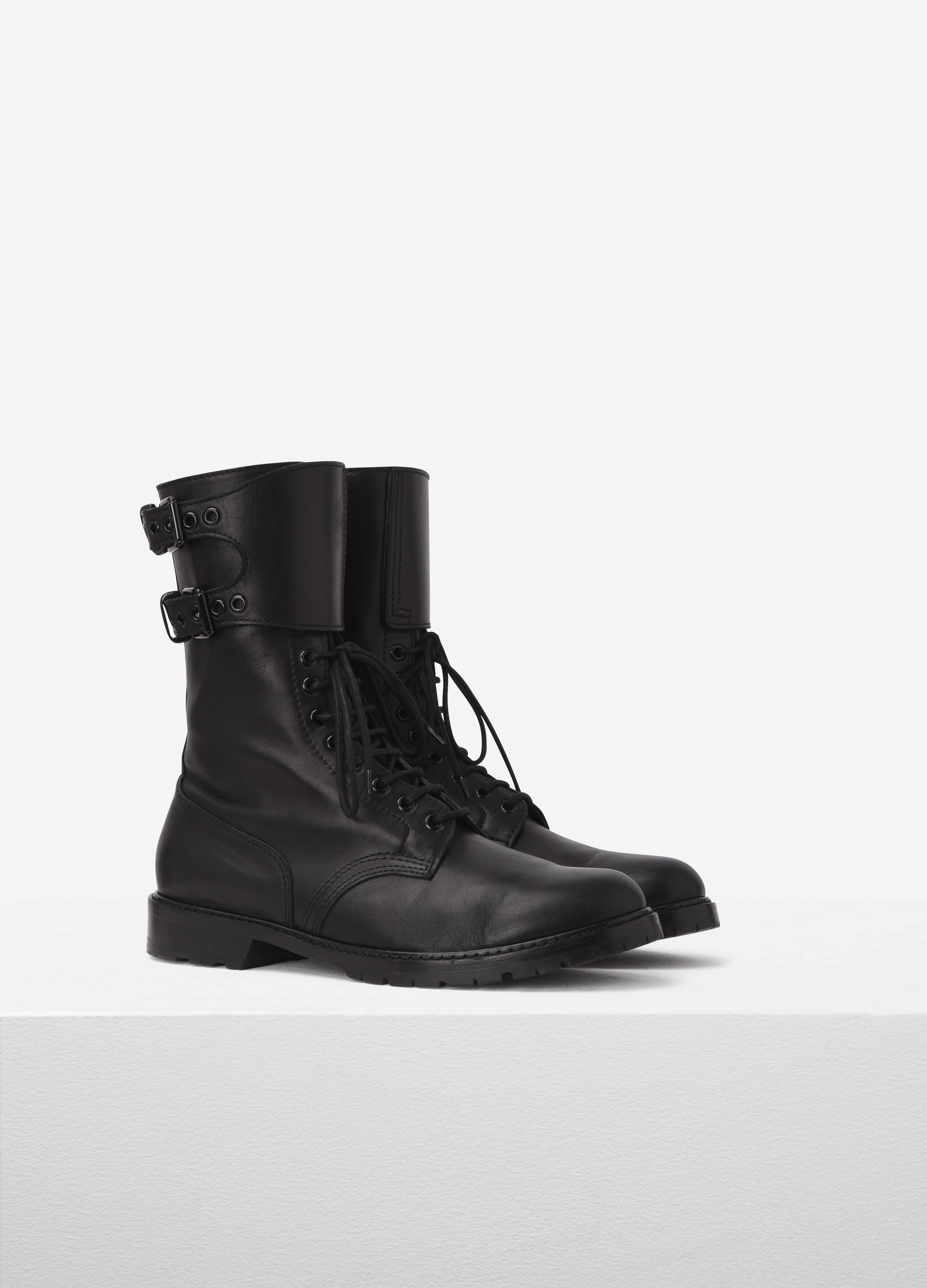 Leather combat boots | Barbara Bui