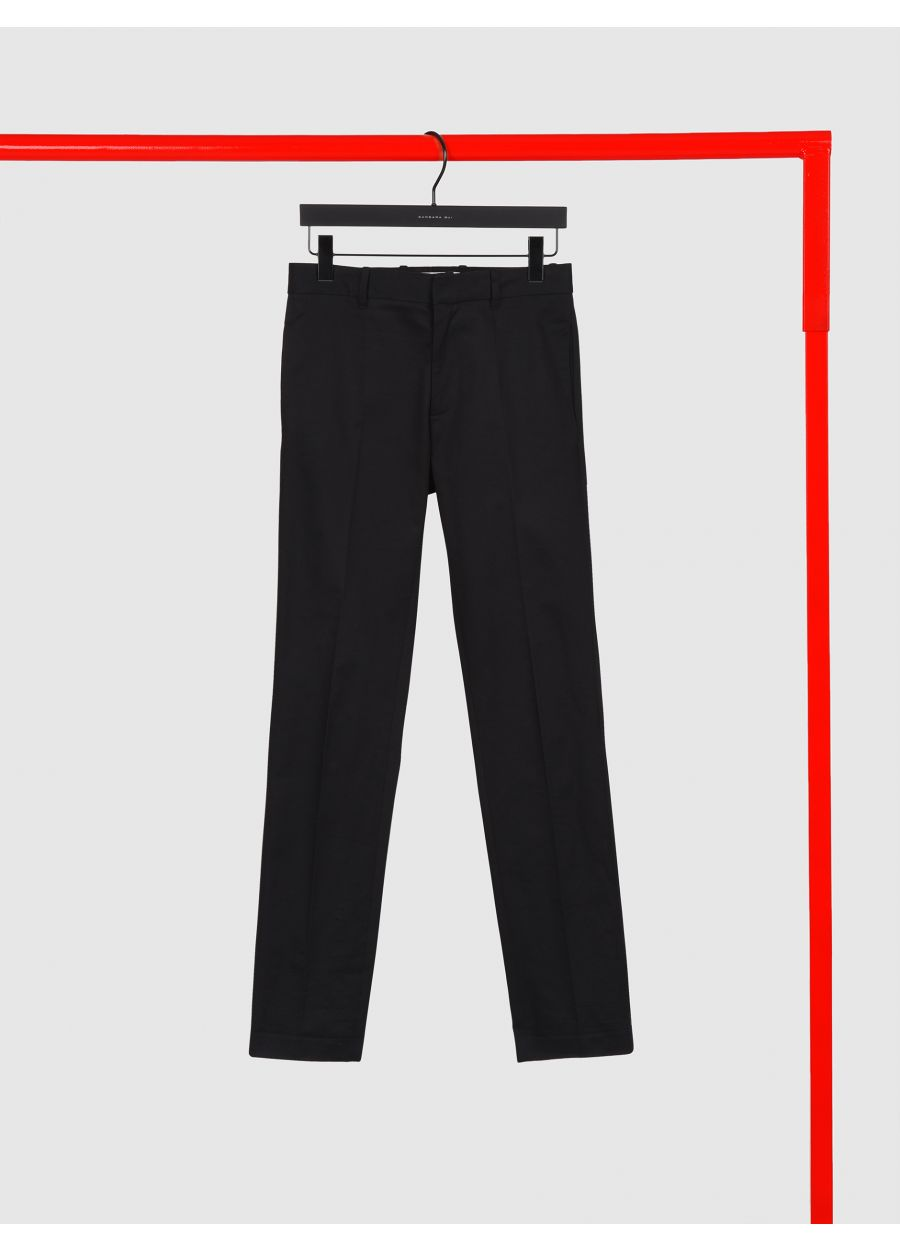 Cotton canvas cigarette trousers