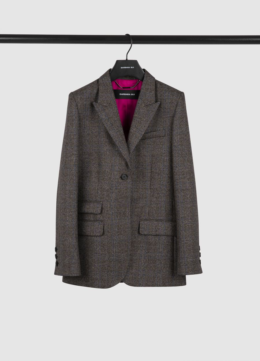 Tailored wool Prince of Wales jacket