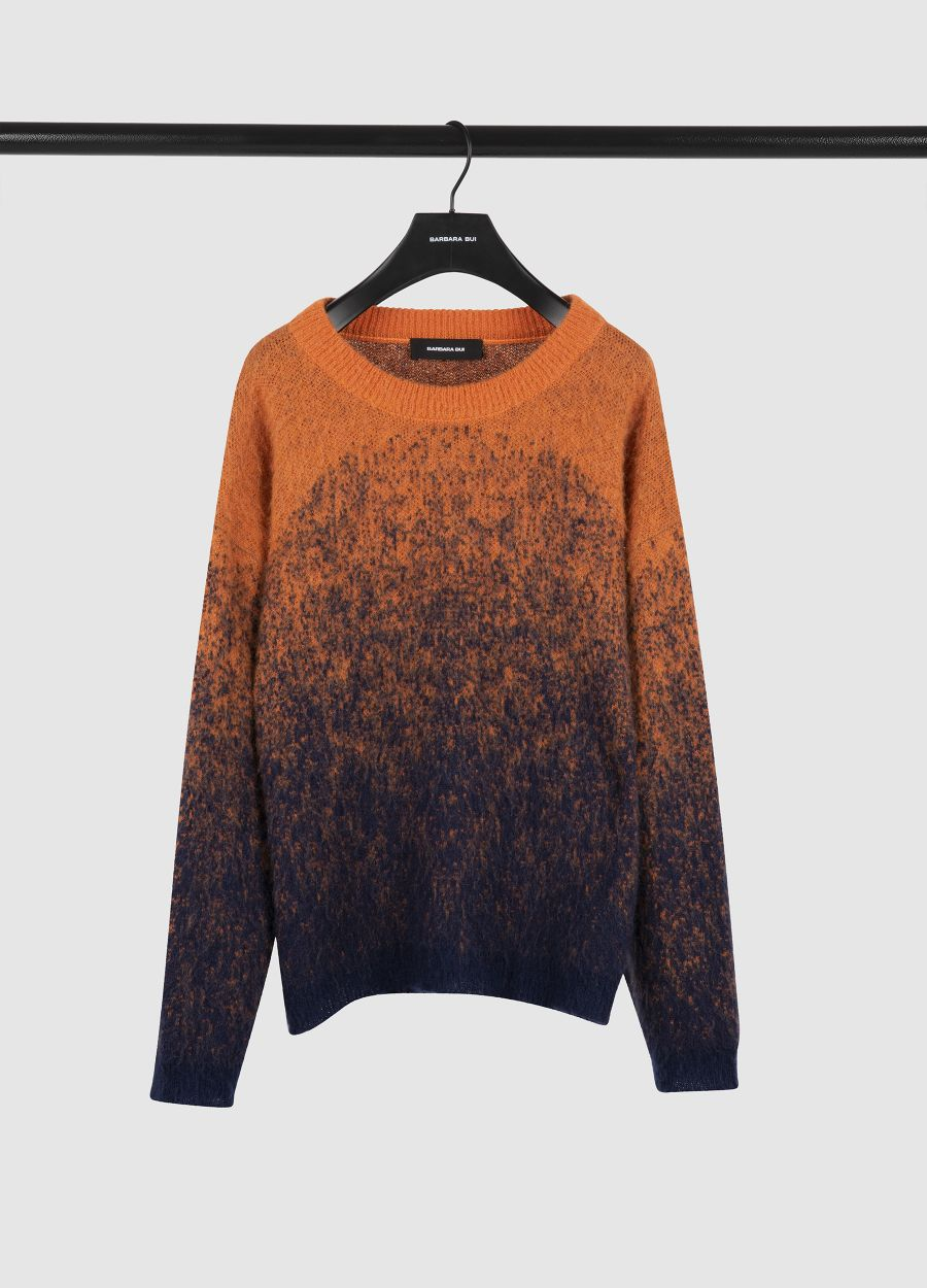 Knit jumper in colour gradient