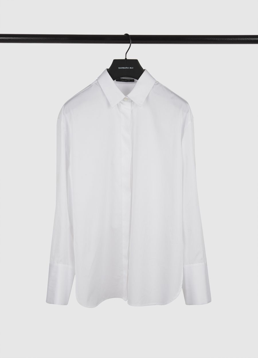 Cotton poplin bib shirt