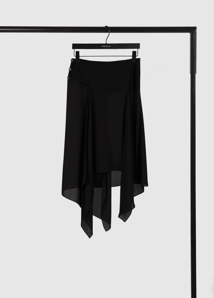Double georgette scarf skirt