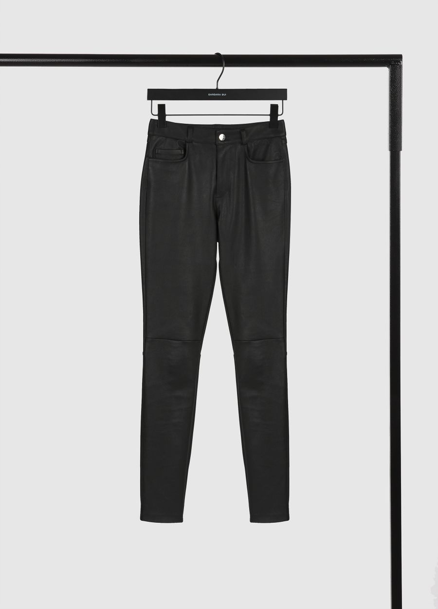 5-pocket leather trousers