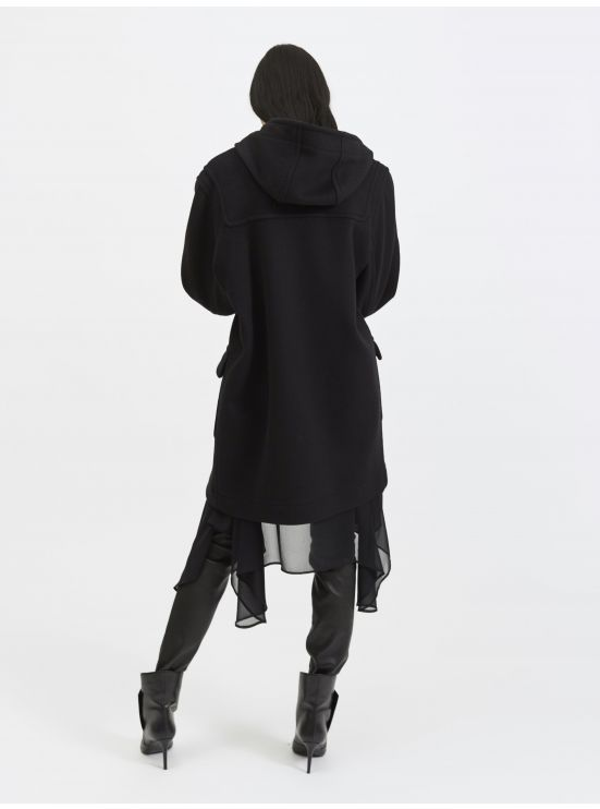 Oversized wool and cashmere duffle coat