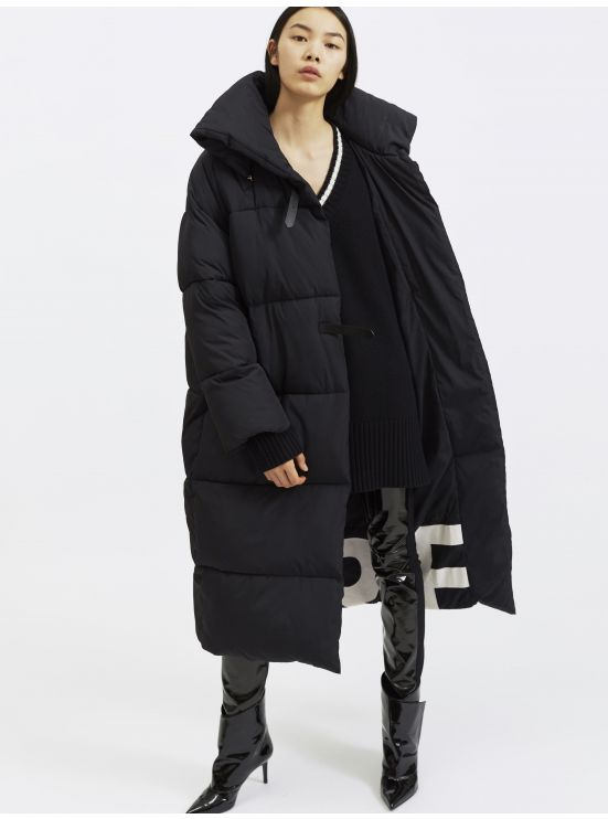 Oversized long puffer coat