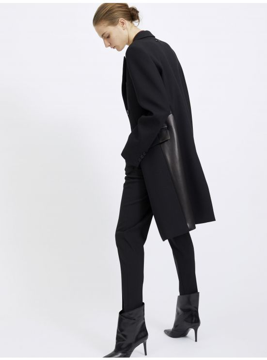 Wool crossed overcoat