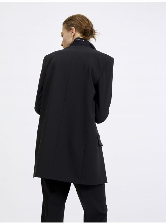 Oversized tailored wool jacket