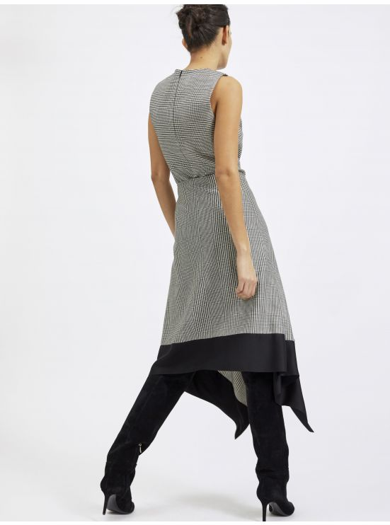 Prince-of-Wales pareo dress - 3 in 1 set