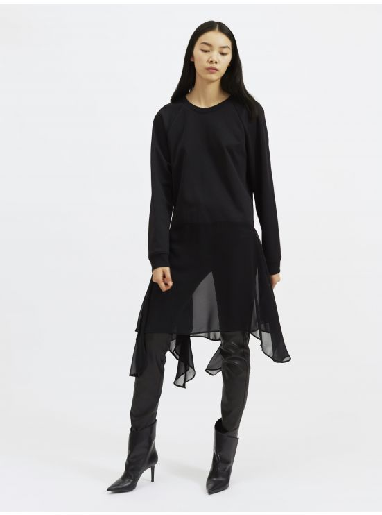 Two-material sweatshirt