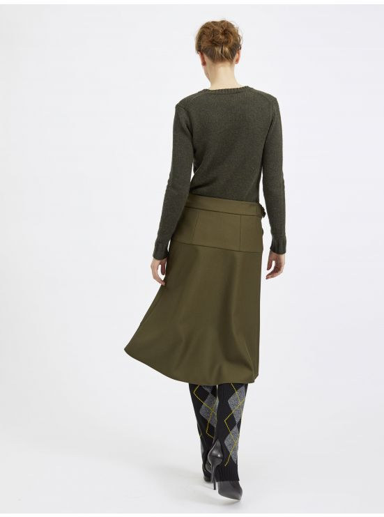 Tech twill wrap skirt