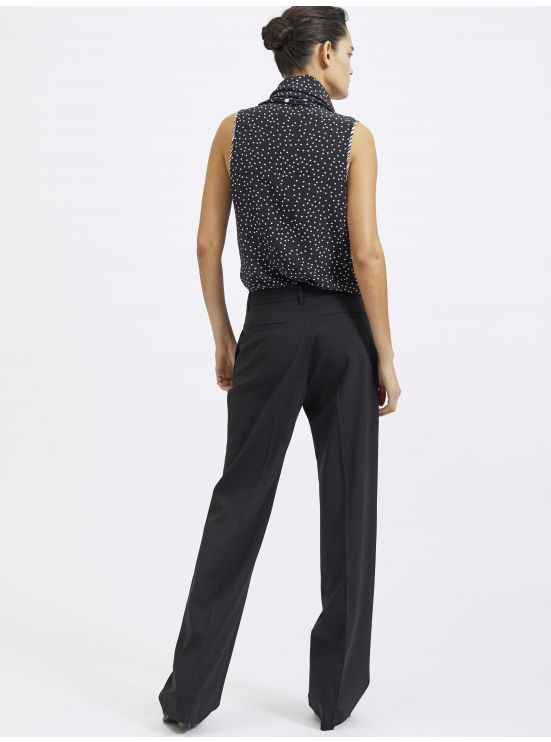 Wool darted trousers
