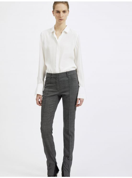 Alpaca wool slim trousers