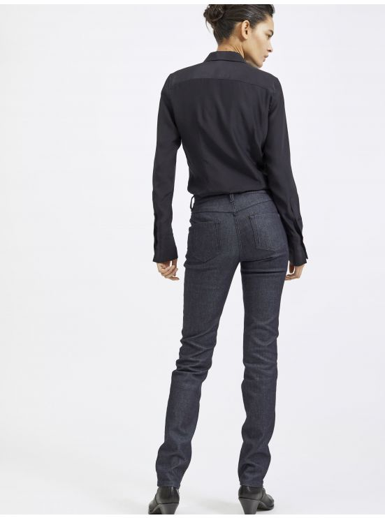 Five-pocket raw Stretch denim jeans