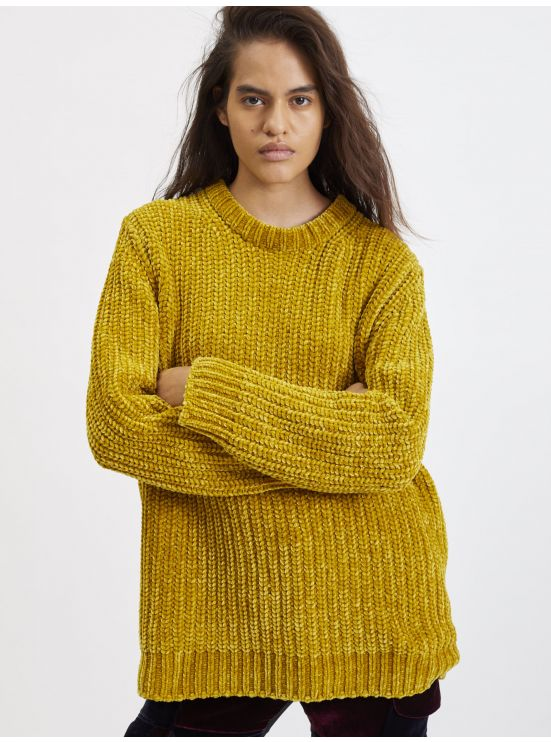 Purl rib sweater
