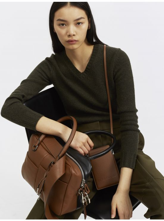 Two-tone Reverso leather bag
