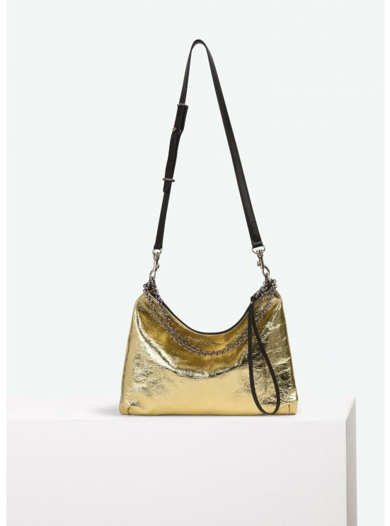 Mirrored effect leather small B.B. bag
