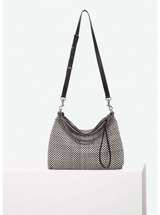 Braided leather small B.B. bag
