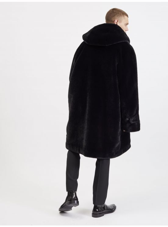 Duffle-coat en fourrure vegan