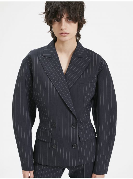 Pinstriped 80s jacket