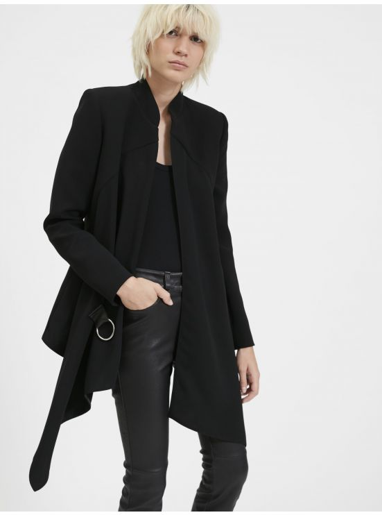 Asymmetrical soft jacket