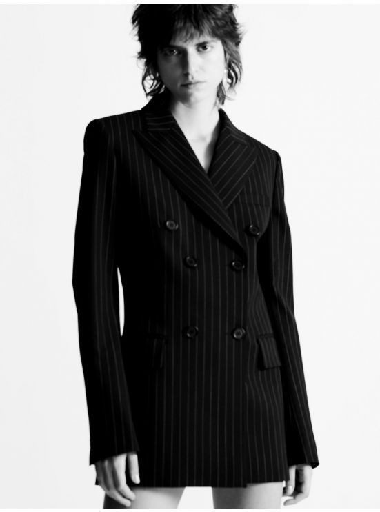 Pinstriped Double breasted jacket