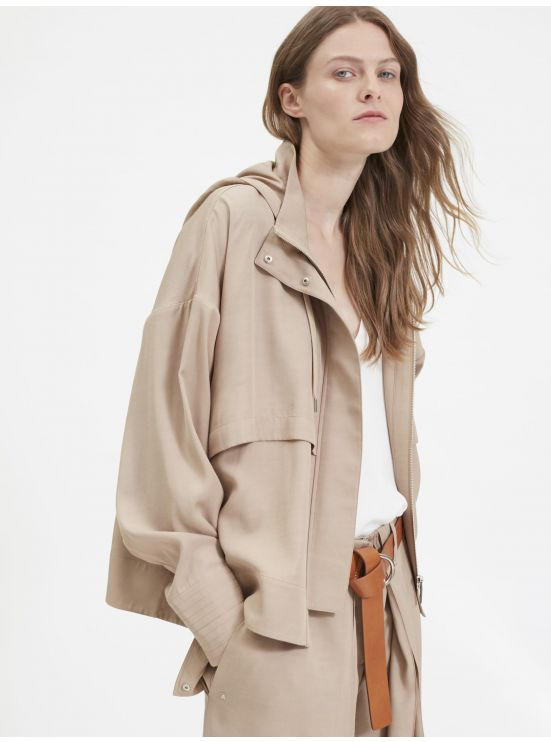 Hooded loose casual jacket