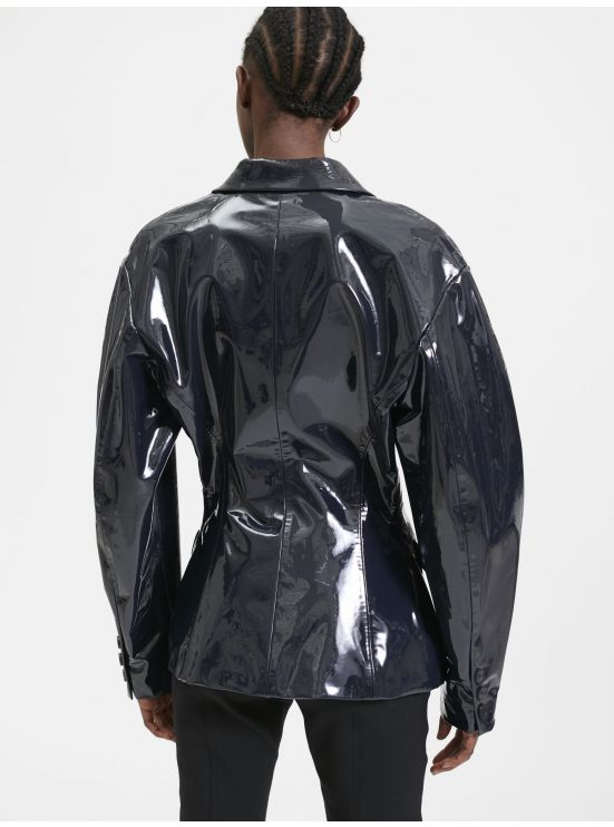 80's jacket in patent leather