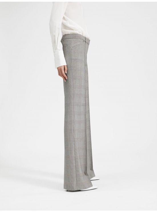 Prince-de-Galles flared trousers
