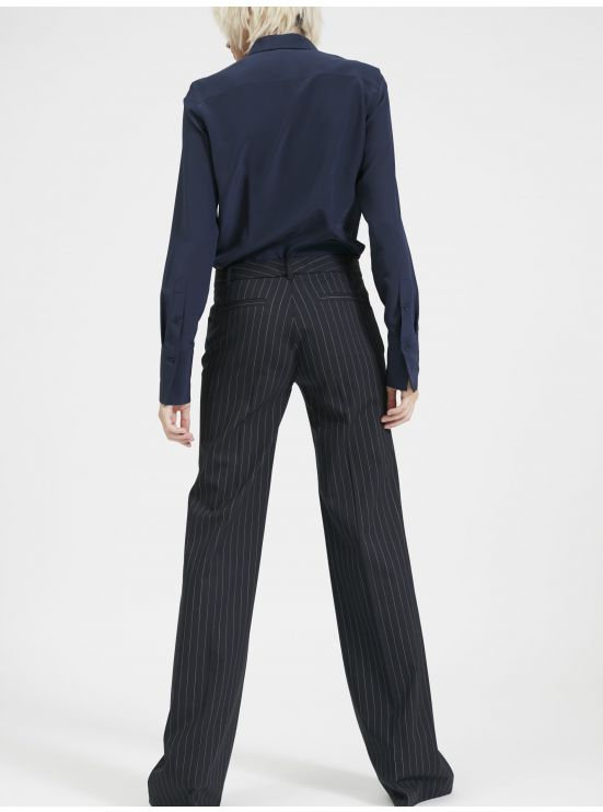 flared trousers with tennis strippes