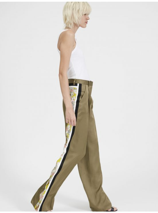 Large graphic trousers