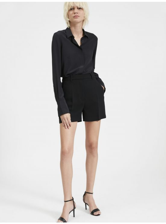 Crepe tailoring shorts