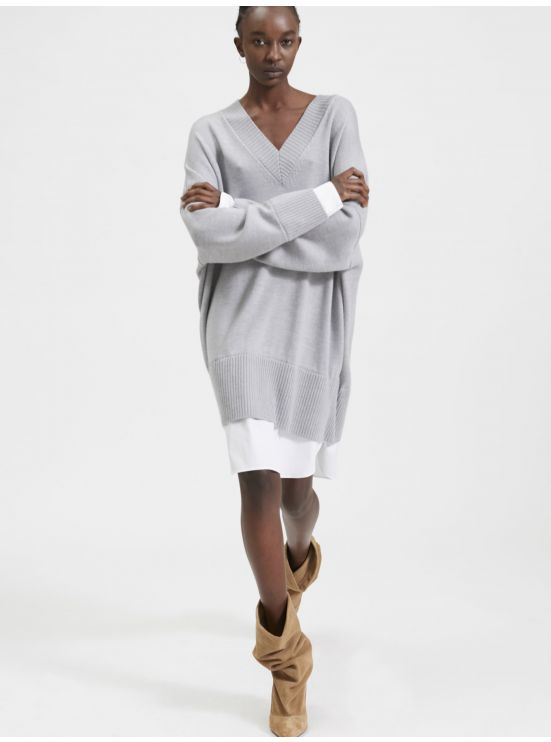 Trompe-l'œil sweater dress