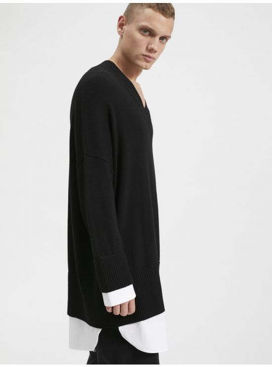 Trompe-l'œil oversized sweater