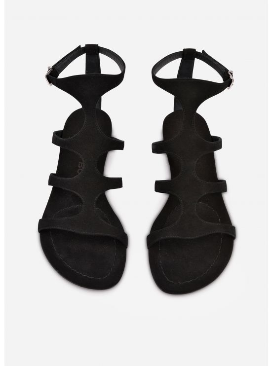 Sued flat sandals