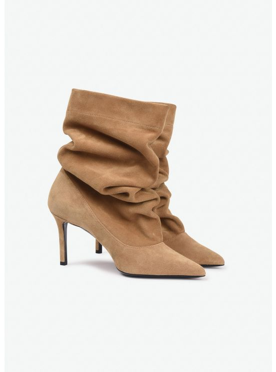 Supple suede booties