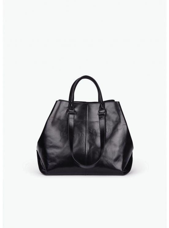 Boyfriend tote bag in leather