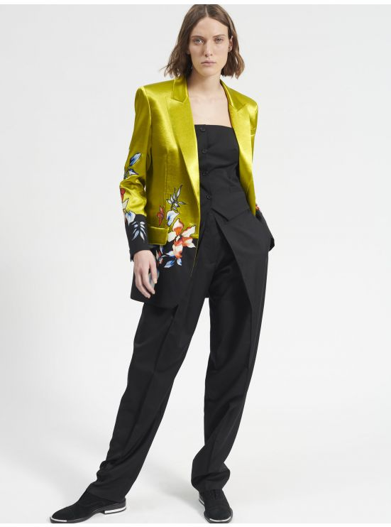 Embroidered contrasted blazer