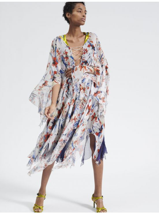 Printed chiffon light dress