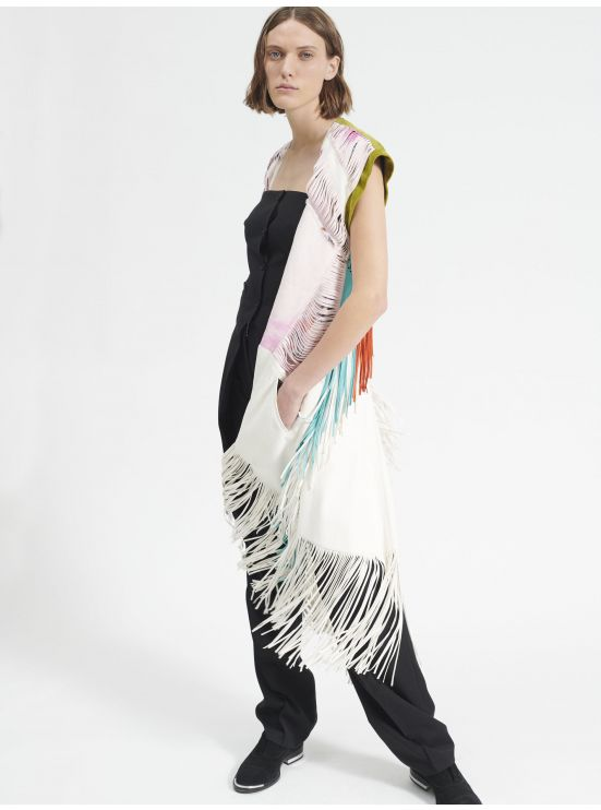 Suede dress with fringes