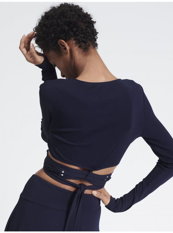 Wrap-over crop top
