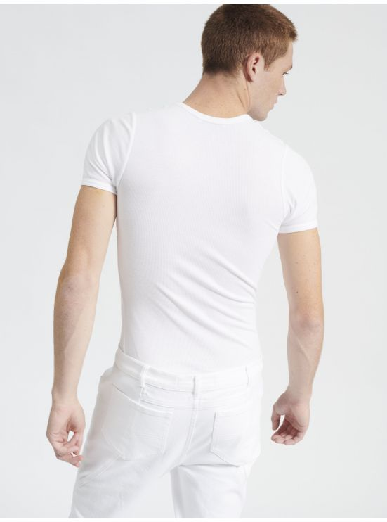 Ribbed cotton tee-shirt