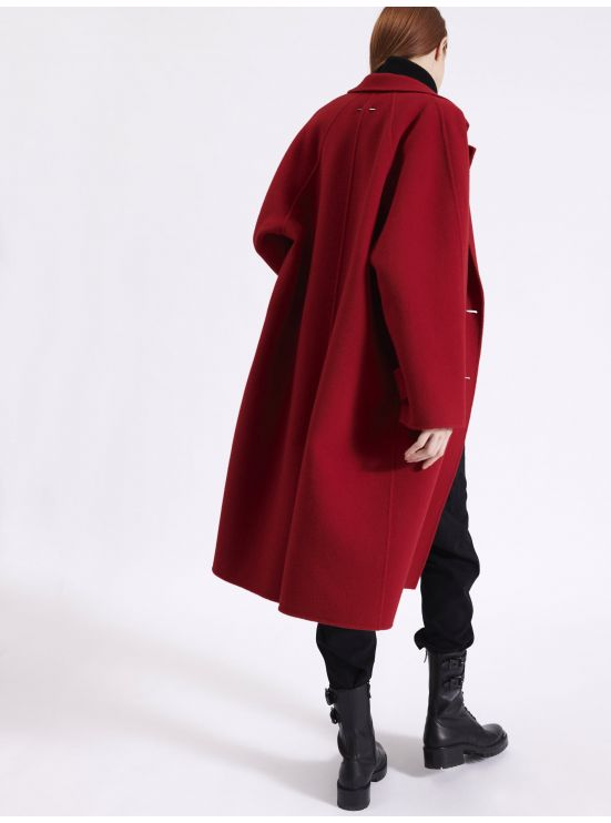 Long double face overcoat