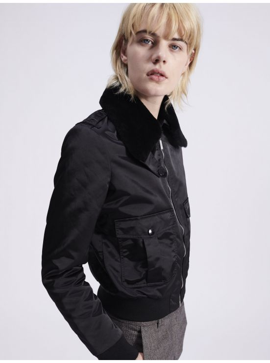 Nylon aviator jacket