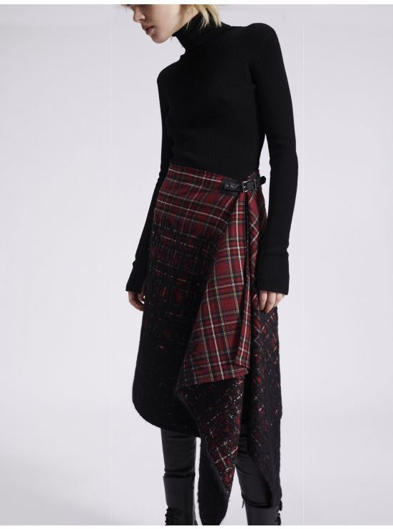 Tartan pareo in colour gradient