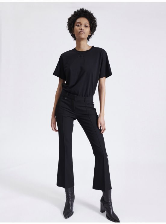 7/8 bell bottom trousers in Grain de Poudre