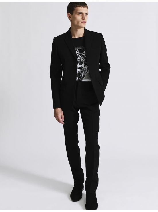 Grain de Poudre wool tailored jacket