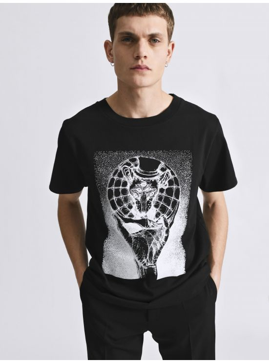 Cotton jersey t-shirt with print