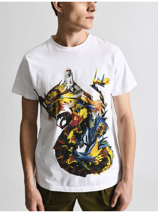 Tee-shirt sérigraphié dragon