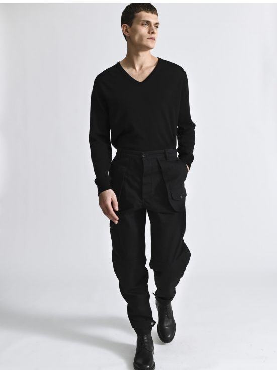 Cotton canvas worker trousers